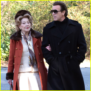 Ewan McGregor & Kelly Bishop Go for a Stroll Filming New Netflix Series 'Simply Halston'