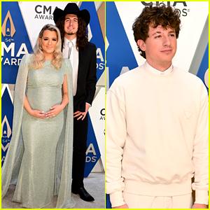 Pregnant Gabby Barrett Walks CMA Awards 2020 Carpet with Husband Cade Foehner