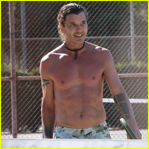 Gavin Rossdale Bares His Abs During Tennis Lesson in L.A.
