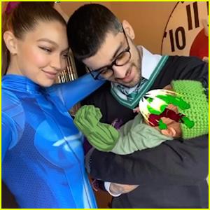 Gigi Hadid Shares First Family Photo with Zayn Malik & Their Daughter on Halloween!