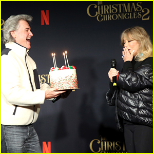 Goldie Hawn Celebrates 75th Birthday a Little Early with Kurt Russell at 'Christmas Chronicles 2' Screening!