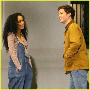 Whitney Peak & Eli Brown Dress Casually in Jeans for 'Gossip Girl' Night Scenes