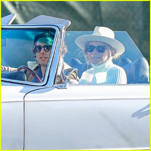Gwyneth Paltrow & Brad Falchuk Take Part in Biden's Victory Parade in WeHo!