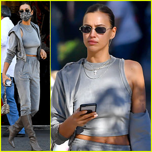 Irina Shayk Wears a Full Look from Kim Kardashian's Skims in NYC