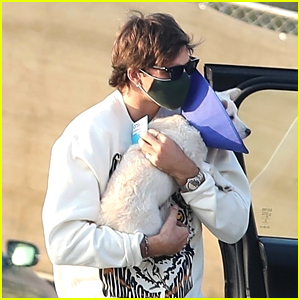 Jacob Elordi Heads To The Vet To Pick Up Kaia Gerber's Pup Milo