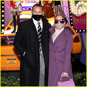 Jennifer Lopez Joins Alex Rodriguez to Light Up Saks Fifth Avenue's Holiday Window!