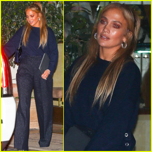 Jennifer Lopez Enjoys Dinner with a Friend on Friday Night in WeHo