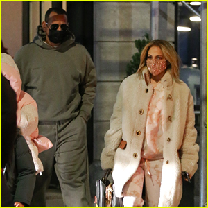 Jennifer Lopez Bundles Up For Family Dinner After Showing Support for 'Selena The Series'