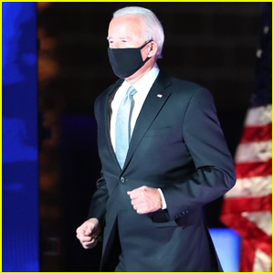 Joe Biden Jogs Onto the Stage to Give Victory Speech in Delaware - And Celebs Loved It!