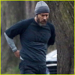 Jude Law Stops to Catch His Breath During Afternoon Jog in London