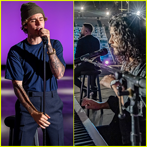 Justin Bieber Performs at Empty Hollywood Bowl with Dan + Shay for CMA Awards 2020 (Video)
