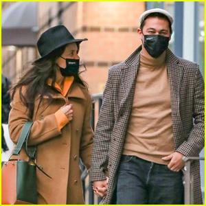 Katie Holmes & Boyfriend Emilio Vitolo Jr. Bundle Up in Chilly NYC