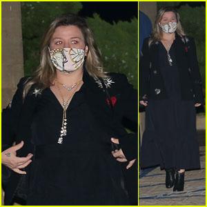 Kelly Clarkson Joins Friends for Dinner in Malibu
