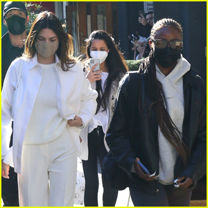 Kendall Jenner Meets Up With Justine Skye For Friday Afternoon Lunch