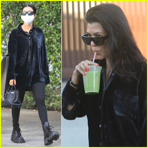 Kourtney Kardashian Picks Up a Matcha Drink While Out in L.A.