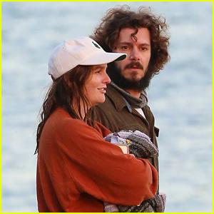 Adam Brody & Leighton Meester Enjoy Ocean Sunset After Picnic Date on the Beach