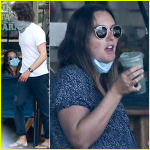 Leighton Meester & Adam Brody Meet Up with a Friend for Some Fresh Juice