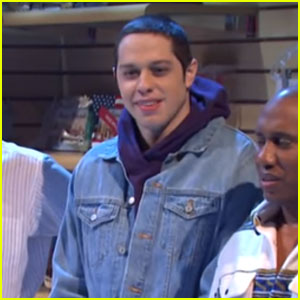 Pete Davidson Pokes Fun at His Bulge During 'SNL' - Watch! (Video)