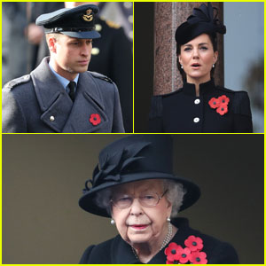 Prince William & Kate Middleton Join Queen Elizabeth for Remembrance Day Ceremony