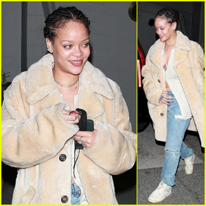 Rihanna Enjoys Dinner at Giorgio Baldi in Santa Monica