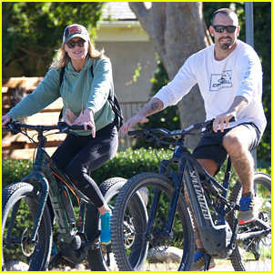 Robin Wright Spotted On a Bike Ride with Hunky Husband Clement Giraudet