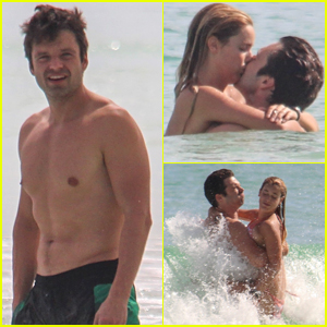 Sebastian Stan Packs on PDA with Girlfriend Alejandra Onieva in Mexico!