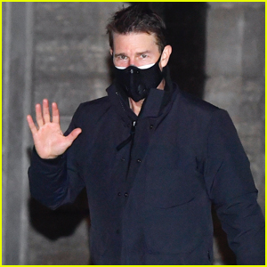 Tom Cruise Wears Face Mask Filming Late Night Scenes for 'Mission: Impossible 7' in Italy