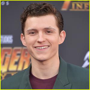 Tom Holland Wears Two Masks On Set of 'Spider-Man 3'