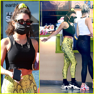 Vanessa Hudgens Jumps Around & Playfully Smacks Pal GG Magree's Butt During Store Run