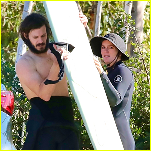 Adam Brody Goes Shirtless For Surfing Date With Wife Leighton Meester