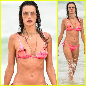 Alessandra Ambrosio Shows Off Her Bikini Body During a Beach Day in Brazil