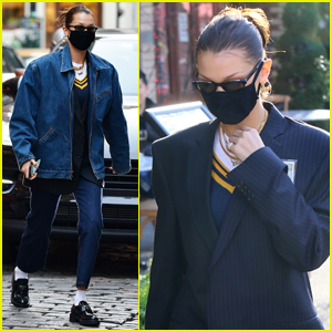 Bella Hadid Sports a Cool Look for Lunch with Friends in NYC