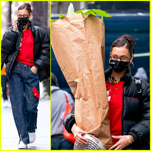 Bella Hadid Does the Heavy Lifting While Buying Plants in New York City