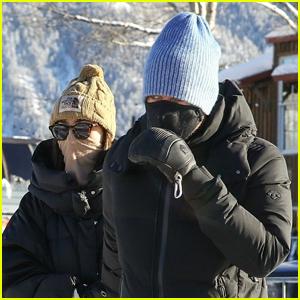 Chris Martin & Dakota Johnson Visit Ski Area in Aspen During Their Holiday Getaway