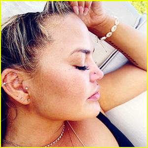 Chrissy Teigen Got Her Nose Pierced, But Something Went Wrong