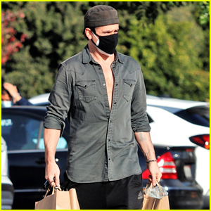 Colin Farrell Leaves His Shirt Unbuttoned While Making a Grocery Store Run