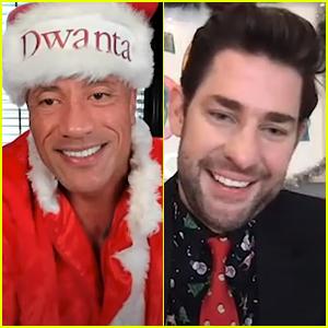 Dwayne Johnson Plays Santa To Deserving Dad During John Krasinski's 'Some Good News' Holiday Special