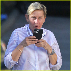 Ellen DeGeneres Wears Her Face Mask Around Her Neck Days After Positive Coronavirus Diagnosis