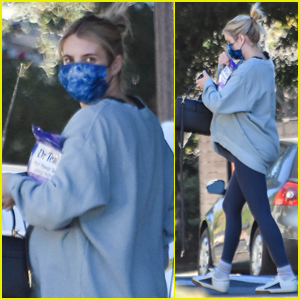 Pregnant Emma Roberts Runs Errands as She Waits to Welcome First Child