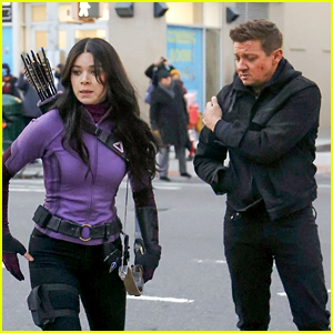 Jeremy Renner Passes On the Arrows to Hailee Steinfeld on 'Hawkeye' Set, Plus a Possible Villain Revealed!