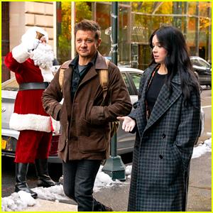 Hailee Steinfeld & Jeremy Renner Run Into Santa Claus on 'Hawkeye' Set in NYC
