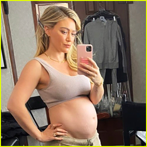 Hilary Duff Shows Off Bare Baby Bump, Says She Misses Her Pre-Pregnancy Body