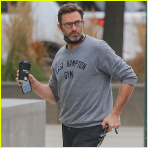 Hugh Jackman Starts Off His Day on a Coffee Run in The Hamptons