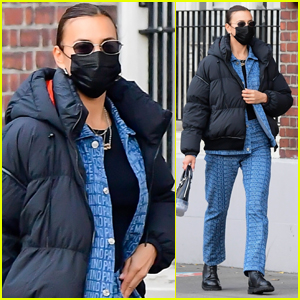 Irina Shayk Bundles Up While Running Errands in NYC