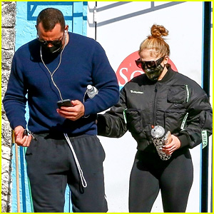 Jennifer Lopez & Alex Rodriguez Burn Off the Christmas Calories With a Workout in Florida
