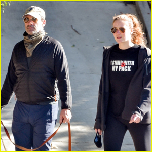 Jon Hamm Heads Out on Late Afternoon Stroll with Girlfriend Anna Osceola