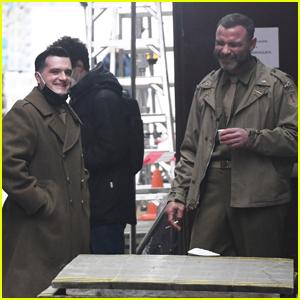 Josh Hutcherson & Liev Schreiber Film Scenes for 'Across the River & Into the Trees'