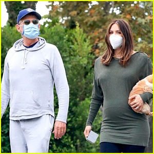 Pregnant Katharine McPhee Goes For a Morning Walk with Husband David Foster