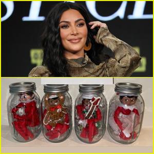 Kim Kardashian Puts Her Kids' Elves on the Shelf in 'Quarantine'!