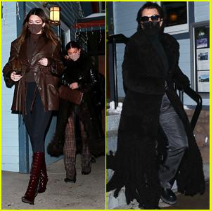 Kylie & Kendall Jenner Join Mom Kris Jenner for Dinner in Aspen